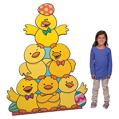 Fun Express - Easter Chick Standup for Easter - Party Decor - Large Decor - Floor Stand Ups - Easter - 1 Piece -
