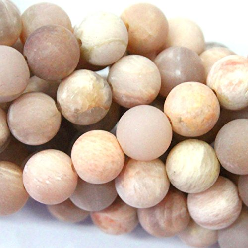 Tacool (TM) Natural Unpolished Matte Moonstone Round Jewelry Making Gemstones Loose Beads (8mm)