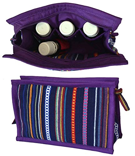 Medium Essential Oil Bag | Holds 6-8 Bottles | Carrying Case for EO Storage | Small Pouch for Travel, Purse, or Suitcase | KEEP YOUR OILS SAFE & AT YOUR FINGERTIPS (Violet) by Essential Oils and Co.
