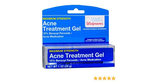 Amazon Com Walgreens Acne Treatment Gel 10 Benzoyl Peroxide 1 Oz Pack Of 2 Beauty