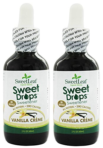 SweetLeaf Vanilla Creme Sweet Drops Liquid Stevia (Pack of 2) with Organic Stevia Leaf Extract, Vanilla Extract, and Natural Flavors, 2 oz.