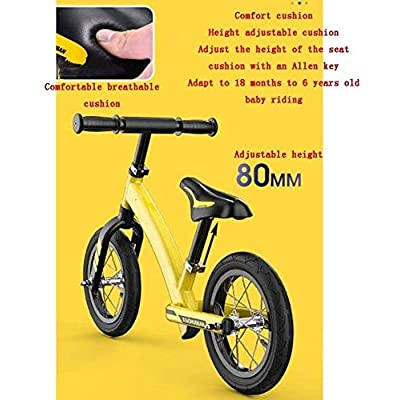 CHENNAO Balance Bikes Magnesium Alloy One Frame,Kids' Balance Bikes Pneumatic Wheel,No Pedal Bicycle 3.1kg 2-6 Years Old Use with Athletic Handle: Home & Kitchen