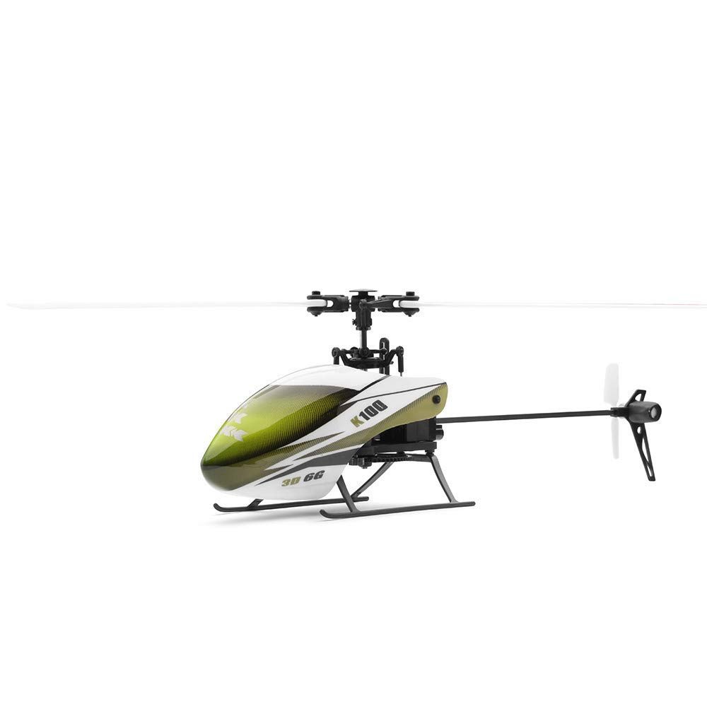 Jeeke XK K100 6CH 3D 6G System RTF RC Helicopter Built-in Gyro Super Stable Flight, 6 Channels, 3D Mode activates 3-axis gyro & 6-axis gyro Modes, Ship from USA (Green)