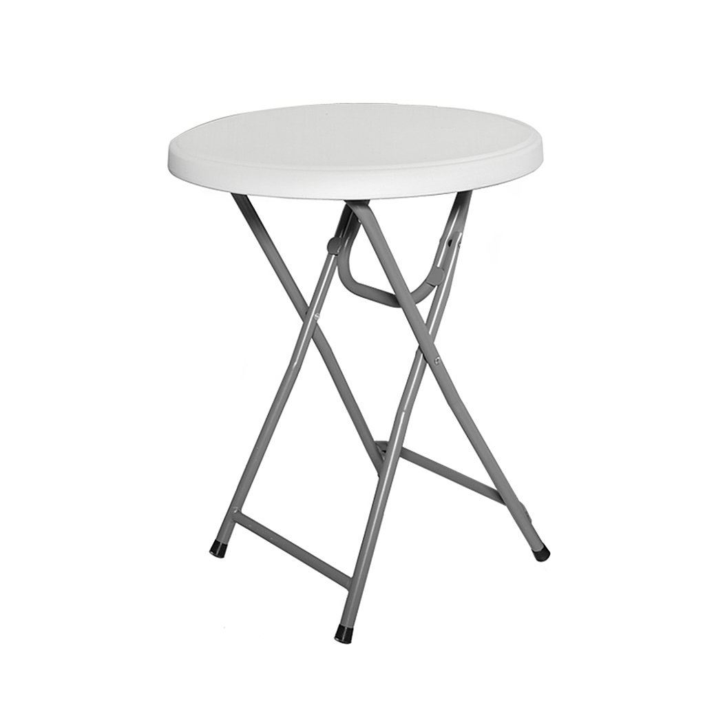 Folding Round Dining Table for Small Space Portable Camping Table Simple White Desk for Kids 24-inch Garden Coffee Table