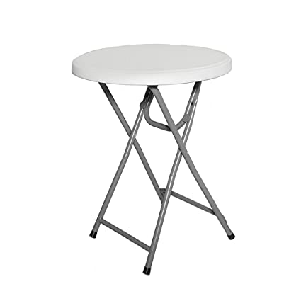 3a51dcdf9059 Amazon.com - Folding Round Dining Table for Small Space Portable Camping Table  Simple White Desk for Kids 24-inch Garden Coffee Table - Tables