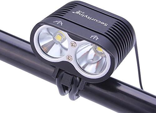 SecurityIng – Luz LED para bicicleta de 1800 lúmenes, 4 modos, 2 ...
