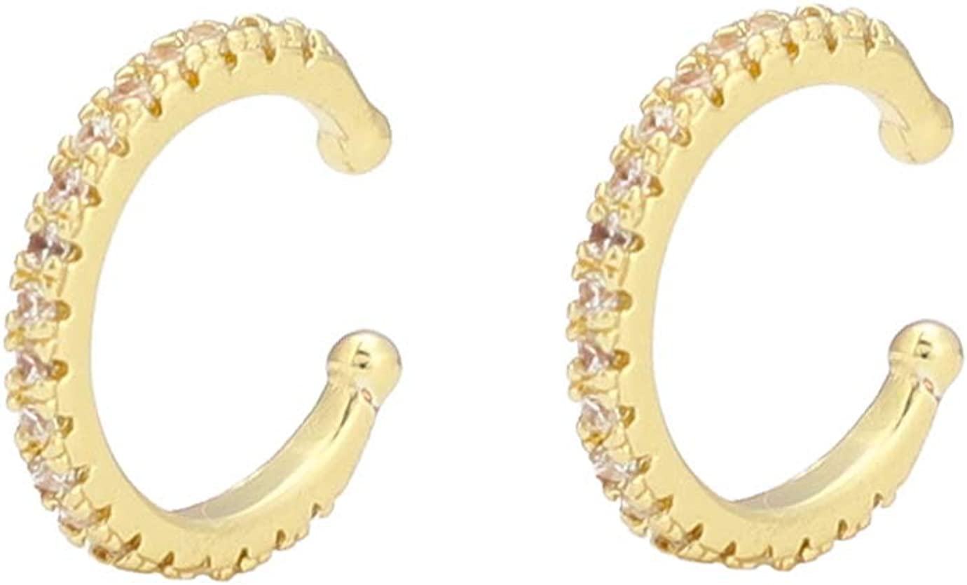 18K Gold Ear Cuff Earrings...