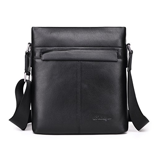 Black Shoulder Vertical Over Travel Business Real Small Men Messenger Black Side For Ipad Office Body Cross One Genuine b Leather Bag Bags 7H5qZ