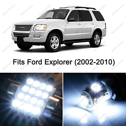 13 x Premium Xenon White LED Lights Interior Package Upgrade for Ford Explorer (2004 Upgrade Package)