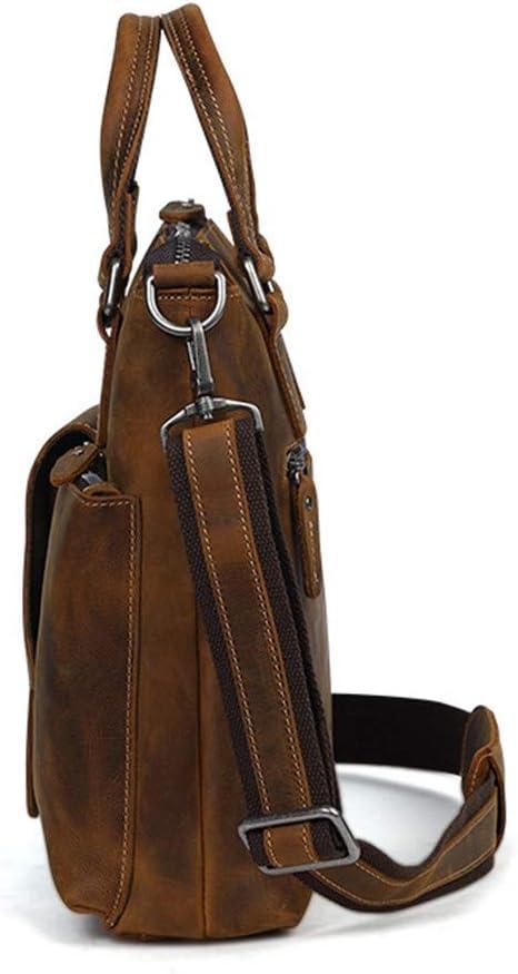 RVXHC Briefcase Travel Briefcase with Card Organizer Large Hybrid Shoulder Bag Water Business Messenger Briefcases Laptop Business Briefcase Color : Brown