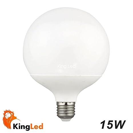 Bombillas LED E27 G120 Globo 15W 40SMD2835 Blanco Calido 3000k Bola y rosca grande