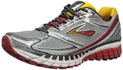 Brooks Men's Ghost 6 Black / White / Lava / Silver / Citrus Mesh Running Shoes 9.5 M US