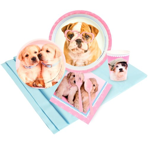 Rachael Hale Dog - BirthdayExpress Rachael Hale Glamour Dogs Party Supplies - Party Pack for 16