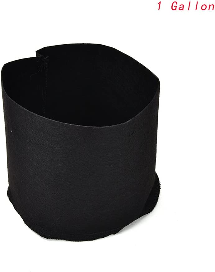 BraveWind 6 PCS 1 Gallon Black Garden Grow Bags Fabric Pots Plant Pouch Round Container Root Aeration Pot Planter with Handles