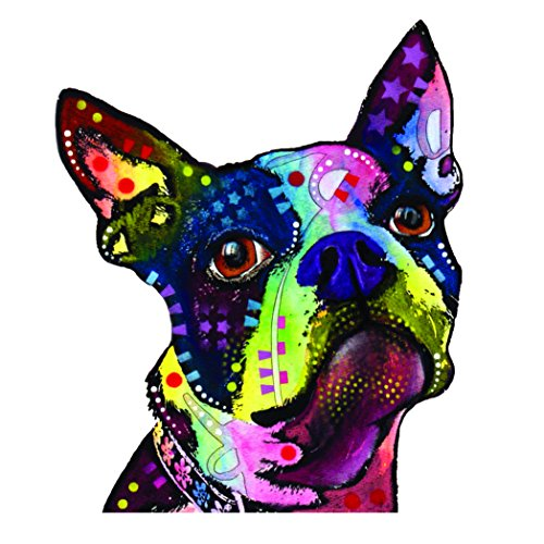 Enjoy It Dean Russo Boston Terrier Car Stickers, 2 (Terrier Dog Car Decal)