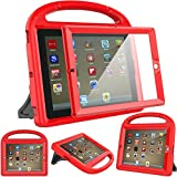 Surom Kids Case Built-in Screen Protector iPad 4, iPad 3 & iPad 2, Shockproof Convertible Handle Stand Case Cover iPad 2nd 3rd 4th Generation - Red