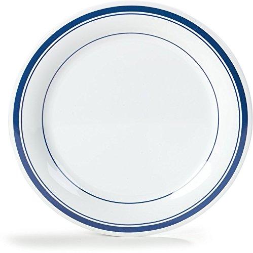 Carlisle 43003912 Durus Narrow Rim Melamine Dinner Plate, 10.5