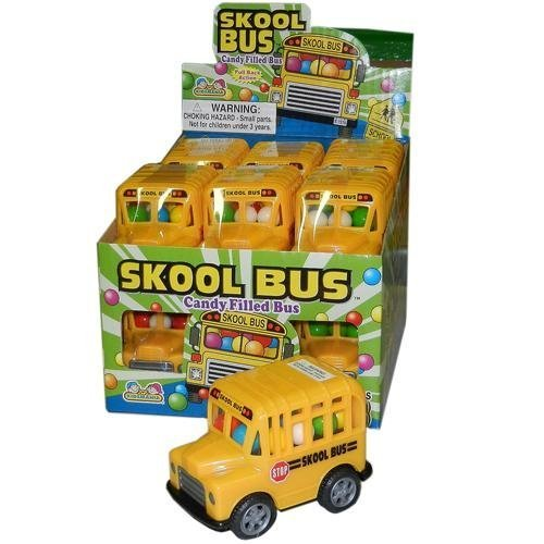 School Bus Pull Back Friction Action Bus Filled with Candy (Skool Bus)