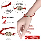 Red Cotton Cord Macrame Twisted Bracelet with