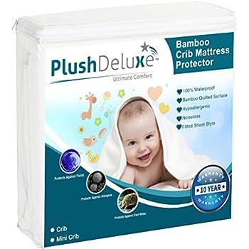 Amazon Com Plushdeluxe Crib Size Premium 100 Waterproof