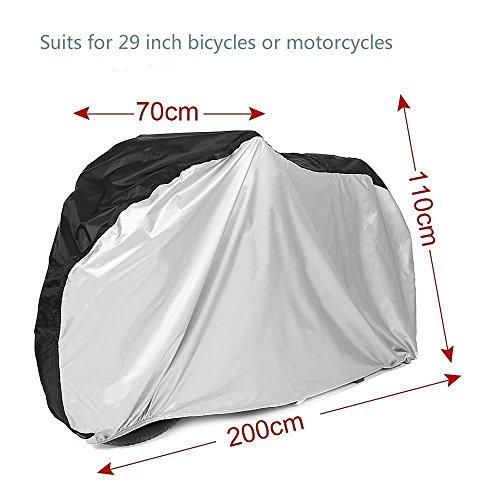 Giwox Wasserdicht Abdeckplanen, Regen Staub Fahrrad Cover, im Freien doppelte Bike-Abdeckung für Mountainbike Rennrad 210D