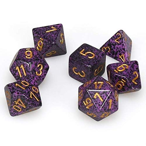 [Chessex]Chessex Polyhedral 7Die Dice Set Speckled Hurricane 25317 [並行輸入品] 1-Pack  B076Z9YBWB