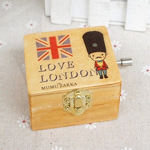 clásico Cascanueces de madera soldados británicos Cranked Caja de música regalo creativo