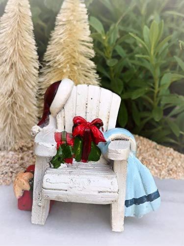 Dollhouse Beach Sea Christmas Adirondack Chair Miniature Magic Scene Supplies Your Fairy Garden - Outdoor House Decor ()