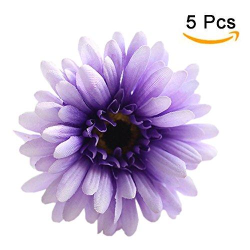 5Pcs Artificial Gerbera Daisy Flower Bouquet For Wedding Party Home Decoration