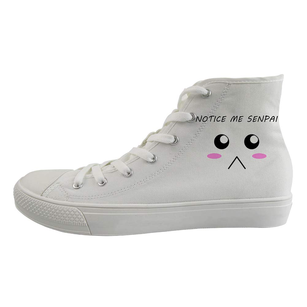 Unisex Casual High-Top Skate Shoes Classic Sneakers Adults Trainers Notice Me Senpai Poor Face