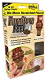 "Furniture Feet Flexible Floor Protectors 16 Pack (Small, Fits Legs 7/8 - 1 1/4"")"