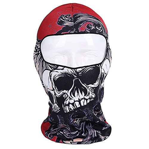 Ezyoutdoor Full Face Mask Printed Lycra Balaclava Outdoor Cap for Motorcycle Fishing Cycling Skiing Snowboarding Outdoor Sports (How To Wear A Santa Hat)