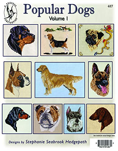 Pegasus Originals Popular Dogs Vol. I Chart Collection - includes Rottweiler, Pug, Beagle, Red and Black and Tan Dachshund, Bulldog, Golden Retriever and Miniature Schnauzer. ()