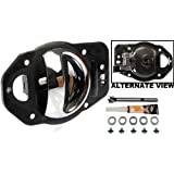 APDTY 91481 Interior Door Handle Replacement Kit Fits Right Passenger-Side Front Or Rear For 2006-2010 Chevy HHR Chrome (Fix For GM Door Panel 19299613, 25812186)