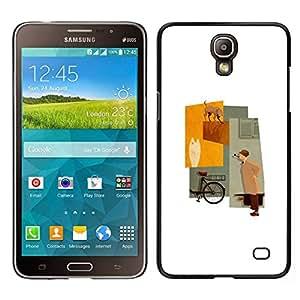 Caucho caso de Shell duro de la cubierta de accesorios de protección BY RAYDREAMMM - Samsung Galaxy Mega 2 - Minimalista en colores pastel Señora Beige
