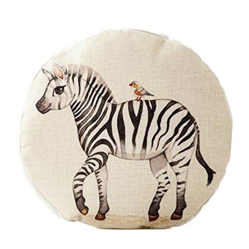 Cute Animal Pattern Sofa Round Cushion Circular Chair Cushion Pillow Seat Pad, B by Kylin Express