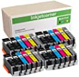 Inkjetcorner Compatible Ink Cartridges Replacement for PGI-250XL CLI-251XL PGI 250 XL CLI 251 XL for use with MG7120 MG7520 iP8720 MG6320 Printer (24-Pack)