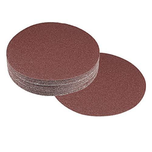nch 400 Grit Hook and Loop Sanding Discs Sandpaper, Aluminum Oxide Abrasive ()