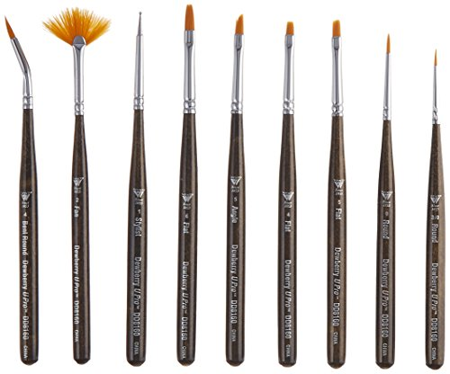 Weber DD8160 9-Piece Donna Dewberry Brush Set, Mini