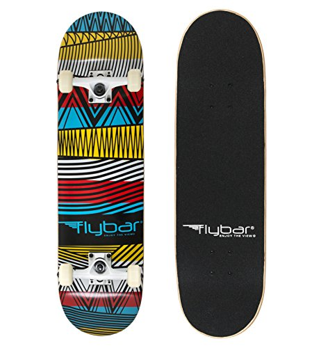"""Flybar Complete Skateboards 31"""" x 8"""" 7 Ply Maple Wood Board"""