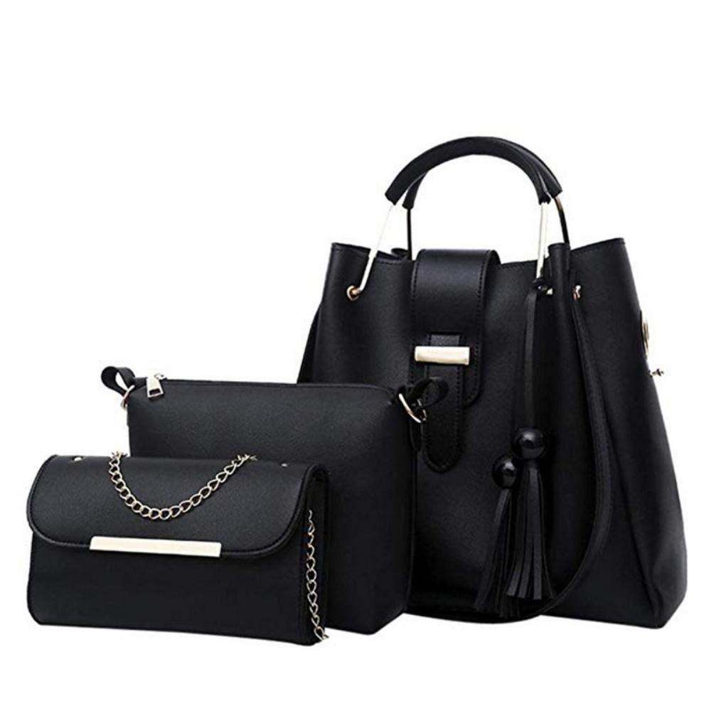 YDZ Mode kvinna handväska och handväska fyrdelad axelväska tygväska messengerväska Gray-3 Gray-3