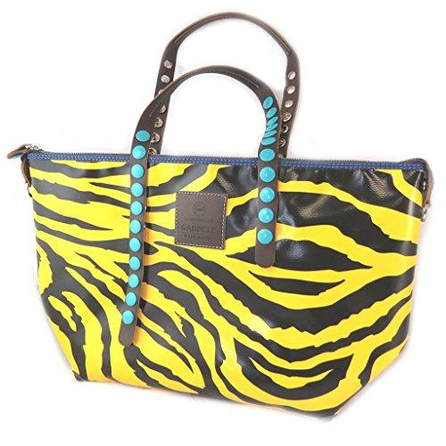 La bolsa 2 en 1 'Gabs'negro amarillo (tigre)(l)- 45x27x17 cm.