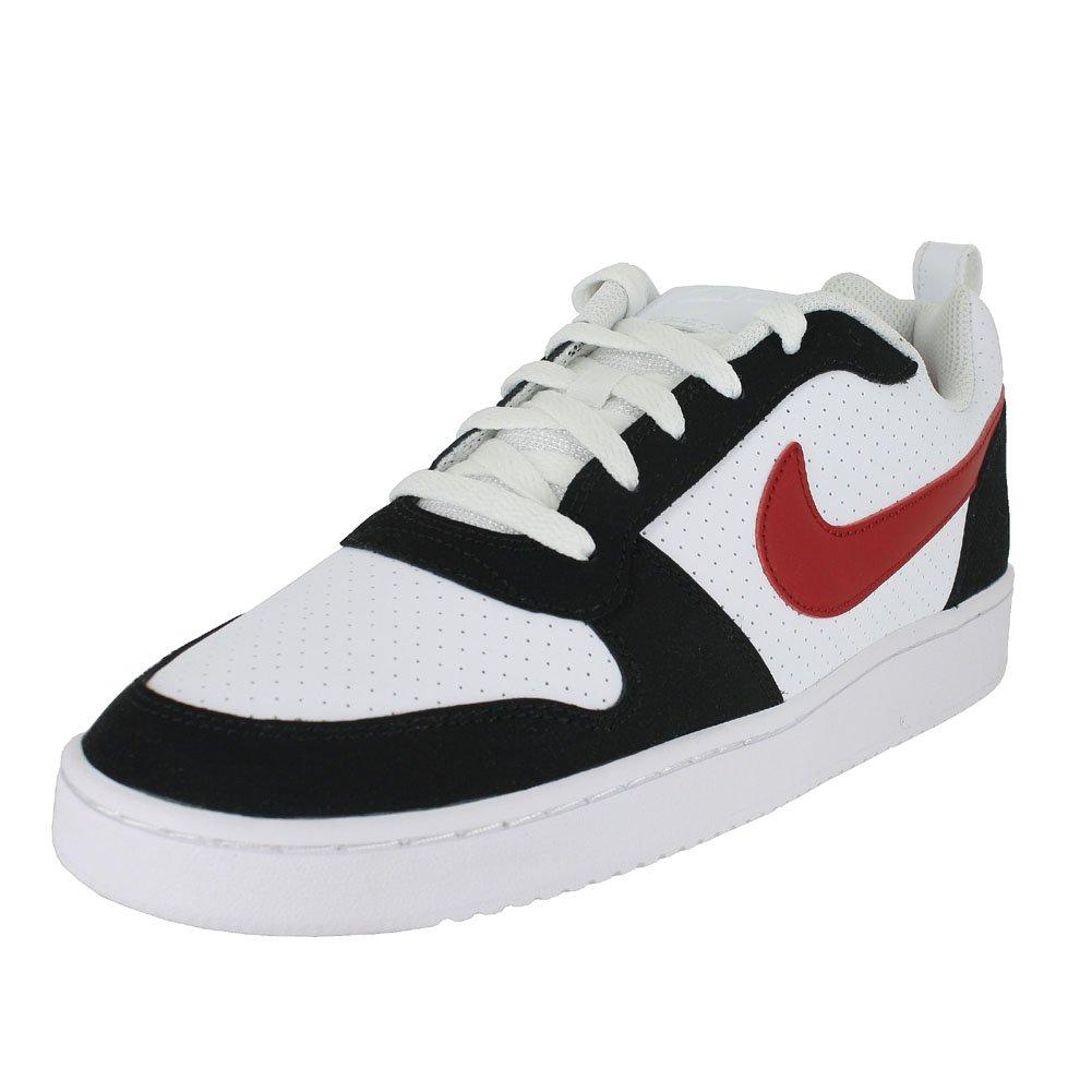 Nike Herren Court Borough Low Sneaker  405 EU|Wei? (Bianco/Gym Rosso/Nero 102)
