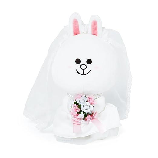 Amazon.com: LINE FRIENDS Brown & Cony Wedding Plush doll Stuffed Sitting Doll: Toys & Games