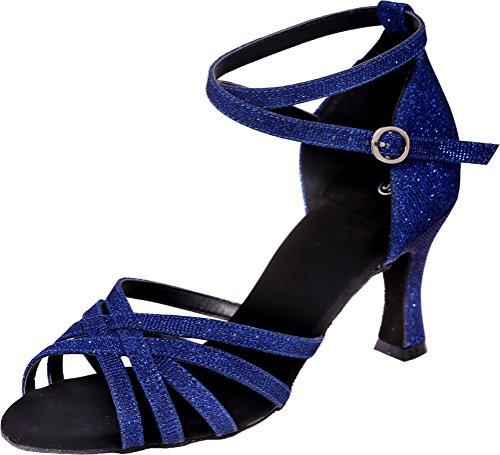 Bleu Danse femme de Salon CFP Ivxazqw