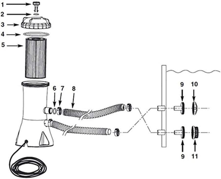 Pool Reinigungsset,Cartridge Filter Pump Ardorman Pool Maintenance Kit,Pool Kartuschenfilteranlage,Poolzubeh/ör