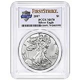 #7: 2017 Silver Eagle 225th US Mint Anniversary Label 1 OZ MS70 PCGS