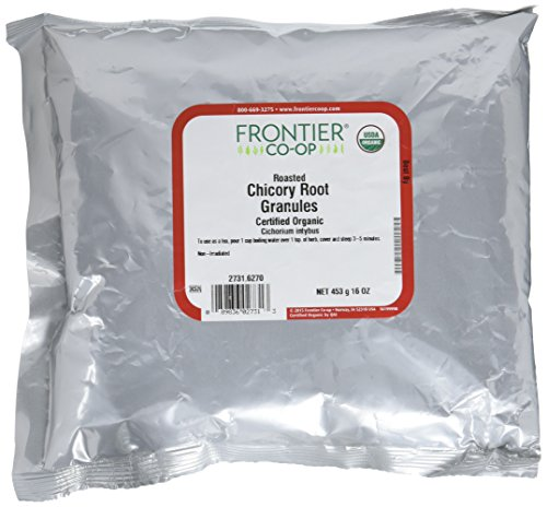 Frontier Natural Products Organic Roasted Chicory Root Granules, Pack of 2