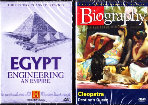 History Channel : Egypt : Engineering an Empire , Biography Cleopatra : Egyptian 2 Pack