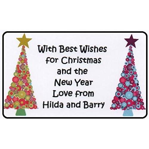 personalised christmas sticker labels amazon co uk